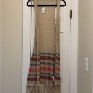 Maurices long sweater vest
